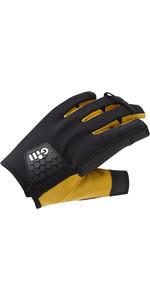 2021 Gill Pro Short Finger Vela Luvas 7443 - Pretas