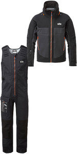 2019 Gill Mens Race Fusion Jacke Rs23 & Salopettes Rs25 Schwarz