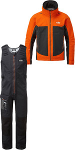 2019 Gill Mens Race Fusion Jacke Rs23 & Salopettes Rs25 Tango / Schwarz