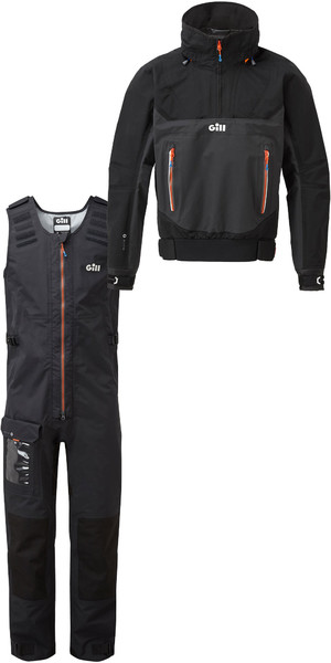 2019 Gill Mens Race Fusion Kittel RS24 & Salopettes RS25 Schwarz