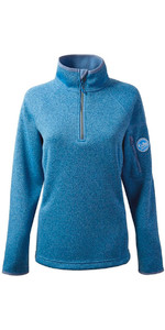 Gill Damen Strick Fleece in Blue Melange 1491W