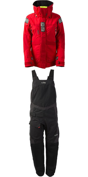 2018 Gill Womens OS2 Jacket OS23JW & Trouser OS23TW Combi Set Red / Graphite