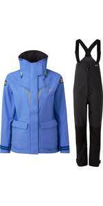 2020 Gill Os3 Femmes Coastal Veste Et Pantalon Combi Set - Bleu Clair / Graphite