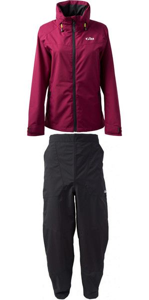 2019 Gill mujer chaqueta de piloto IN81JW y pantalón IN81T Combi Set Berry / grafito