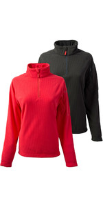 Gill Feminino Thermogrid Zip Neck Fleece Twin Pack Graphite E Vermelho