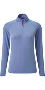 2019 Gill Womens UV Tec Zip Neck Top Blue UV009W