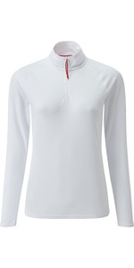 2020 Gill Womens UV Tec Zip Neck Top White UV009W