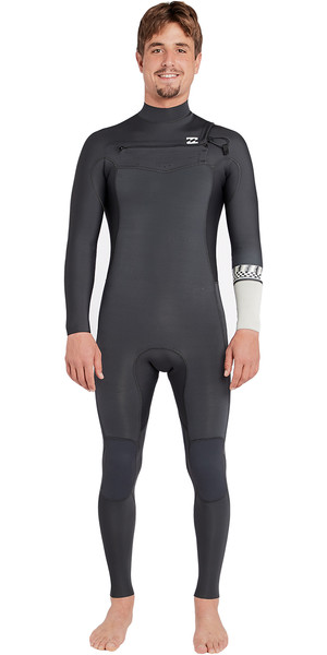 2018 Billabong Furnace Révolution 4 / 3mm Poitrine Zip Wetsuit Graphite L44M06