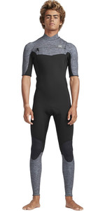 2019 Traje De Neopreno Billabong Hombre De 2mm Furnace Absolute Chest Zip Gris Jaspeado N42m19