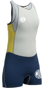 Gul Surflite Voor Dames 3mm Flatlock Short Jane Inkt Blauw Sl5301-a7