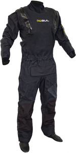 2020 Gul Code Zero Stretch U-zip Drysuit Black Inc Con Zip Gm0368-b8 - Preto