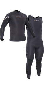 2019 Gul Code Zero Elite 3mm Long John Impact Wetsuit & Thermotop Combi Set - Black