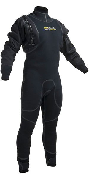 2019 Gul kode Nul 4mm Hybrid Neo Semi DrySuit Sort GM0377-B1