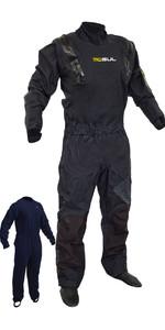 2019 Gul Code Zero Stretch U-zip Drysuit + Underfleece Gm0368-b5 - Preto