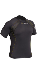 2019 Gul Evolite Flatlock Thermal Short Sleeve Top Black EV0123-B2