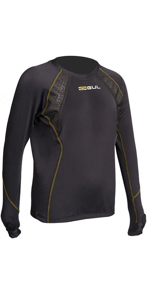 Gul Evolite Junior Thermal Langarmshirt, Schwarz EV0121-B2
