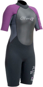 2020 Gul G-force 3mm Das Mulheres Shorty Wetsuit Preto / Amora Gf3306-a9