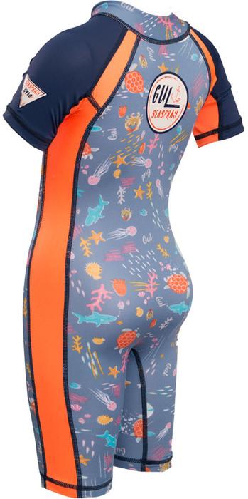 Gul Junior Front Zip Uv Sonnenanzug Sealife Rg0349-b4