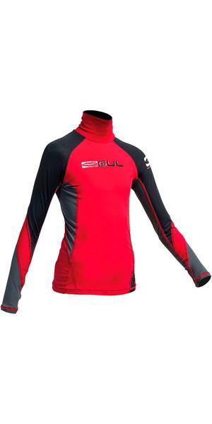 Gul Junior Long Sleeve Rash Vest Red / Black RG0344-A9
