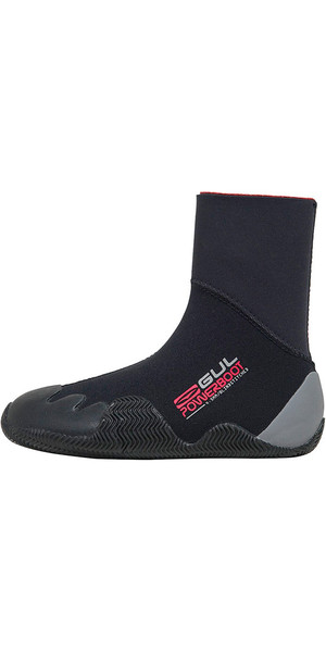 2019 Gul Junior Power 5mm Wetsuit Boot Black / Grau BO1264 A8