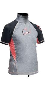 Gul Junior Surf Short Sleeve Rashguard Marl / Black RG0345-A9