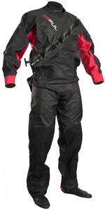 2020 Gul Dartmouth Eclip Zip- Drysuit Heren GM0378-B5 - Zwart / Rood