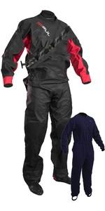 2020 Gul Junior Dartmouth Eclip Zip Drysuit Inc Underfleece Negro / Rojo Gm0378-b5