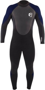2021 Gul Mens G-Force 3mm Back Zip Flatlock Wetsuit GF1305-B7 - Black / Navy