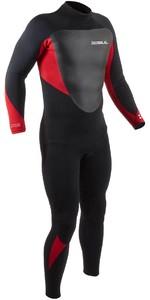 2021 Gul Heren Response 3/2mm Back Zip Gbs Wetsuit Re1231-b9 - Zwart / Rood