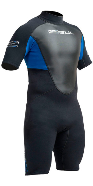 Gul Response 3 / 2mm Heren Shorty Wetsuit Zwart / Blauw RE3319-A9