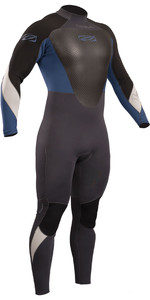 2019 Gul Response 3 / 2mm Back Zip GBS Wetsuit Graphite / Blue RE1231-B4