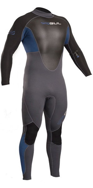 2018 Gul Response 3 / 2mm Flatlock Back Zip Wetsuit Azul / Grafito RE1321-B4