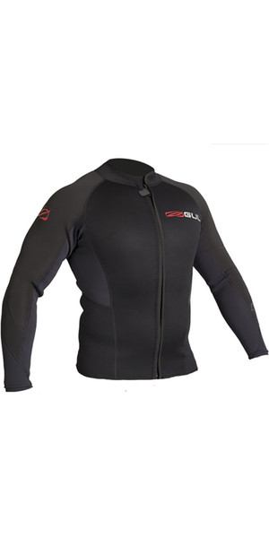 2018 Gul Response 3mm Flatlock Bolero Wetsuit Jacket BLACK RE6304-B4