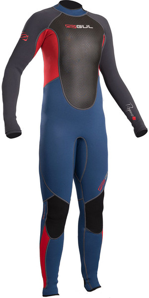 2018 Gul Response Junior 3/2mm Flatlock Wetsuit Blue / Graphite RE1322-B4