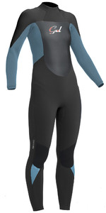 2019 Gul Response Mulheres 5/3mm Gbs Back Zip Wetsuit Jet / Peltre Re1229-b1jepw