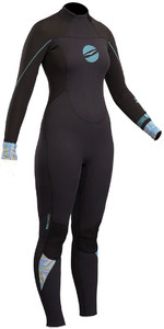 2019 Gul Response Womens 4 / 3mm GBS Back Zip Wetsuit Preto RE1248-B4