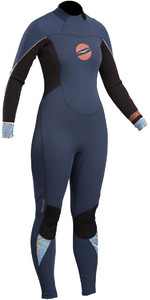 2019 Gul Response Womens 3 / 2mm GBS Back Zip Wetsuit Blu / Nero RE1232-B4