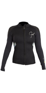 2020 Gul Response Womens 3mm Bolero Wetsuit Jacket Black / Lines RE6305-B4