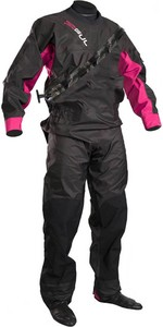 2020 GUL Womens Dartmouth Eclip Zip Drysuit Black / Pink GM0383-B5