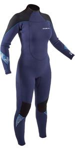 2021 Gul Mujer Response 5/3mm Back Zip Gbs Traje De Neopreno Re1229-b9 - Azul / Negro