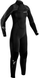 2021 Gul Womens Response 3/2mm Back Zip GBS Wetsuit Re1232-B9 - Black