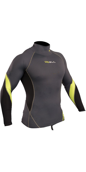 2019 Gul Xola Long Sleeve Rash Vest Grafit / Lim RG0339-B4