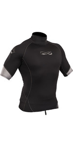 2019 Gul Xola Short Sleeve Rash Vest Black RG0338-B4
