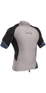 2020 Gul Xola Short Sleeve Rash Vest Marl / Black RG0338-B4