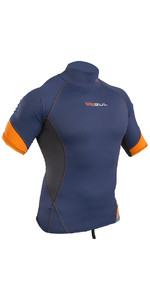 2020 Gul Xola Short Sleeve Rash Vest Blue / Orange RG0338-B4