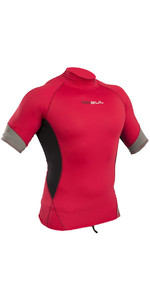 2019 Gul Xola Short Sleeve Rash Vest Red / Black RG0338-B4