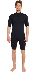 Billabong Mens Pro 2mm Chest Zip Shorty Wetsuit BLACK H42M15