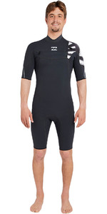 Billabong Pro 2mm Chest Zip Shorty Wetsuit BLACK SANDS H42M15