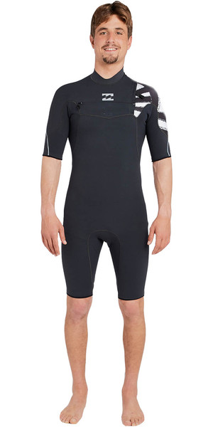 2018 Billabong Pro 2mm Poitrine Zip Shorty BLACK SANDS H42M15