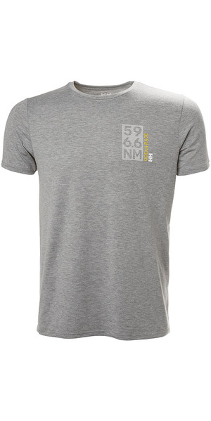 2018 Helly Hansen HP Shore T-Shirt grigia Melange 53029